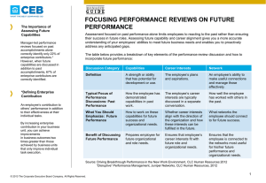 Focusing Performance Reviews