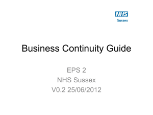 Business continuity guide