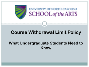 Undergraduate Withdrawal Limit Policy