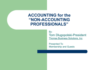 "ACCOUNTING for the ""NON-ACCOUNTING PROFESSIONALS"""
