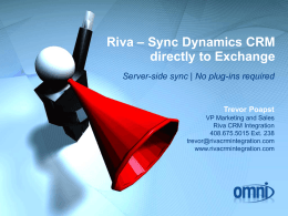"""server-side"" sync solution for Microsoft Dynamics CRM and"