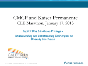 Implicit Bias & In-Group Privilege – Understanding and