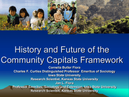 History and Future of the Community Capitals Framework
