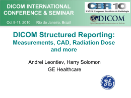 Measurements, CAD, Radiation Dose and more