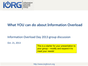 this presentation - The Information Overload Research Group