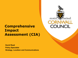 Comprehensive Impact Assessment (CIA)