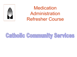 Medication Administration Refresher Course for nurses