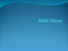 """M-A-C times"" PowerPoint"
