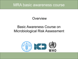 FAO/ICD/WHO Basic Awareness Course on - Sp