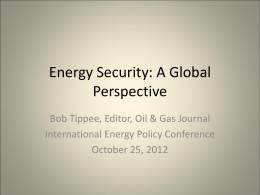 PPT - International Energy Policy Conference