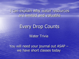 Every Drop Counts - Spokane Public Schools