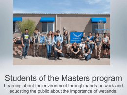Students of the Masters program