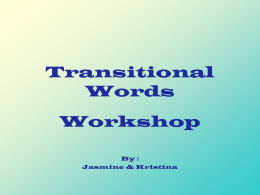 Transitional Words for a DBQ