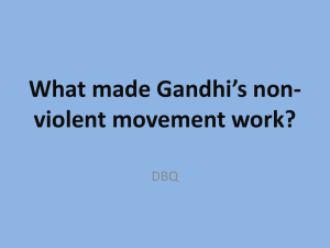 What made Gandhi`s non-violent movement work?
