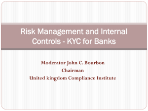Risk Management and Internal Controls