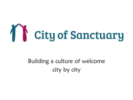 City of Sanctuary PowerPoint slides for awareness