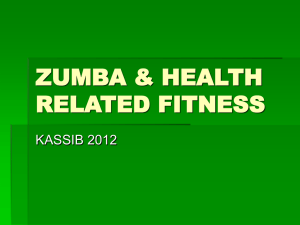 ZUMBA & HEALTH RELATED FITNESS