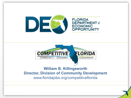 William Killingsworth Department of Economic Opportunity (DEO)