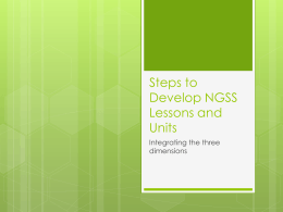 Developing NGSS Lessons