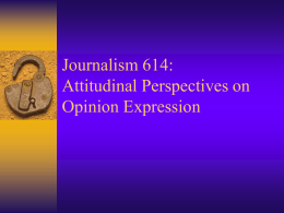 attitudes - School of Journalism and Mass Communication