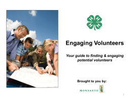 4H Volunteer Segment Profiles and Messages 9.22.11