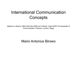 International Communication Concepts