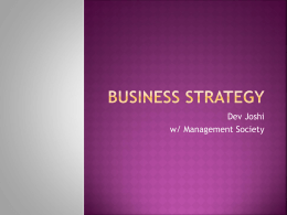 Business Strategy Tutorial Slides