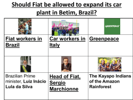 Should Fiat be allowed to expand its car plant in