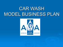 CAR WASH MODEL BUSINESS PLAN