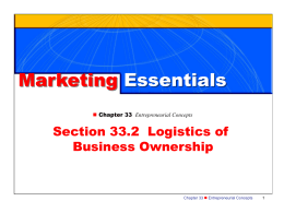 Logistics of Business Ownership