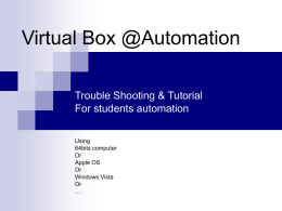 Virtual Box @Automation