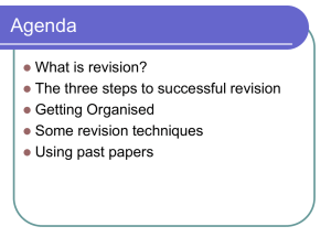 4. How To Revise - Grosvenor Grammar School