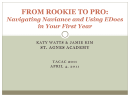 Navigating Naviance and Using EDocs in Your First Year