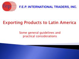 F.E.P. International Traders , INC