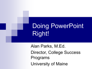 Doing PowerPoint Right PPT file