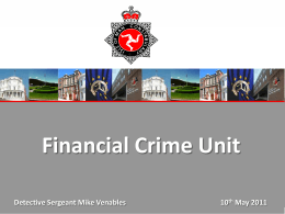 Financial Crime Unit Presentation
