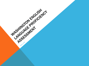 Washington English Language Proficiency Assessment