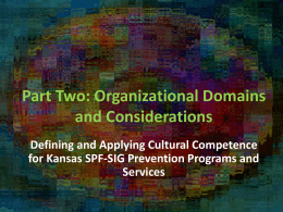 Cultural Competence Module Two Organizational Considerations