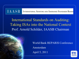IAASB`s Role, Objectives and Structure