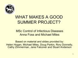 What makes a good MSc Public Health project?