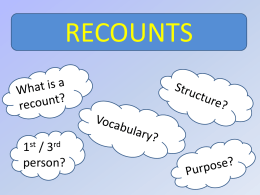 Recounts powerpoint