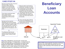 Beneficiary Loan Accounts