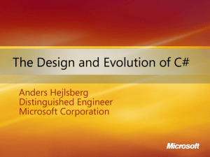 Design and Evolution of C#