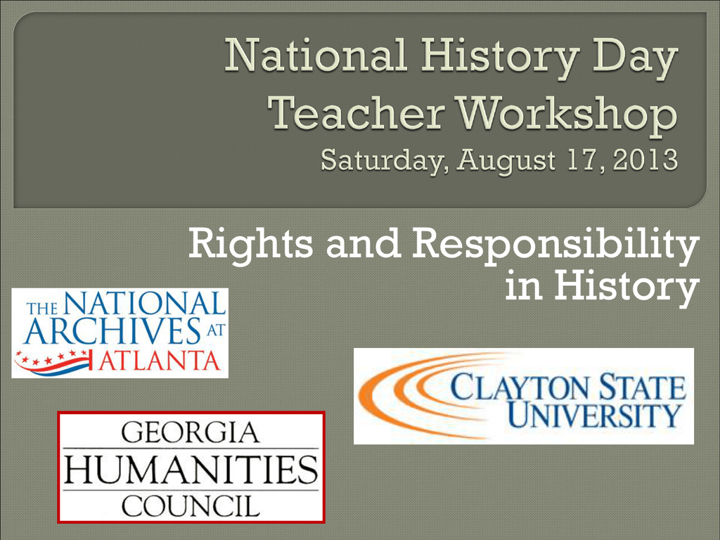 National History Day PPT - Friends of the National Archives