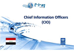 Training Course for CIOs-Govt. Of Iraq CHAPTER 2: Strategic and