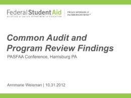 Session 61 - Audits and Program Reviews
