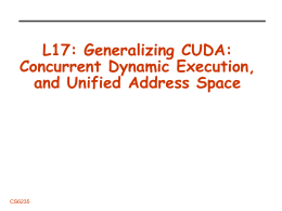 Generalizing CUDA