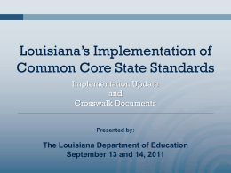 New - Louisiana Department of Education