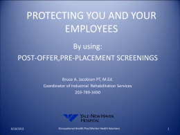 Post-offer, Pre-placement - Connecticut Department of Labor