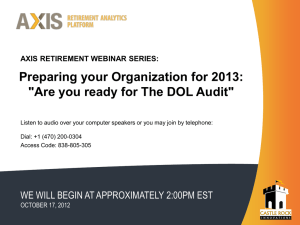 Are you Ready for the DOL Audit?